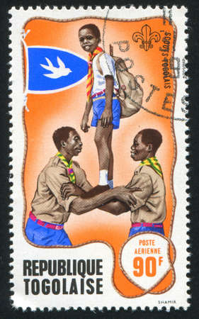 TOGO - CIRCA 1968: stamp printed by Togo, shows Scout game, circa 1968