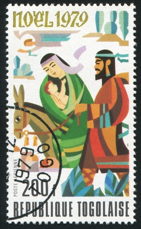 TOGO - CIRCA 1979: stamp printed by Togo, shows Holy Family, circa 1979 photo