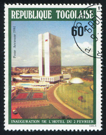 TOGO - CIRCA 1981: stamp printed by Togo, shows Hotel Opening, circa 1981