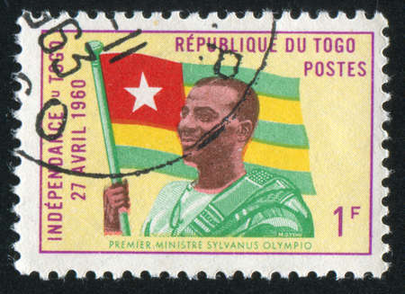 TOGO - CIRCA 1960: stamp printed by Togo, shows Prime Minister, circa 1960 Stock Photo - 12354737
