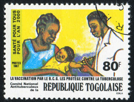 TOGO - CIRCA 1987: stamp printed by Togo, shows Inoculation, circa 1987 photo