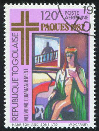 TOGO - CIRCA 1982: stamp printed by Togo, shows The Ten Commandments, circa 1982