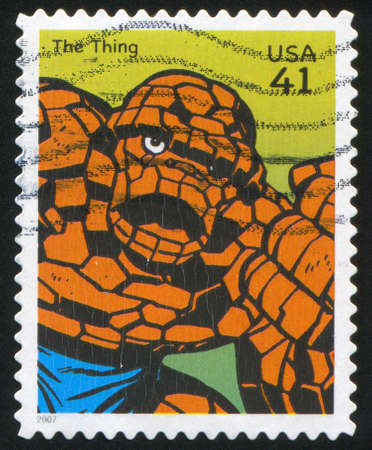 marvel: UNITED STATES - CIRCA 2007: stamp printed by United states, shows Thing, circa 2007 Editorial