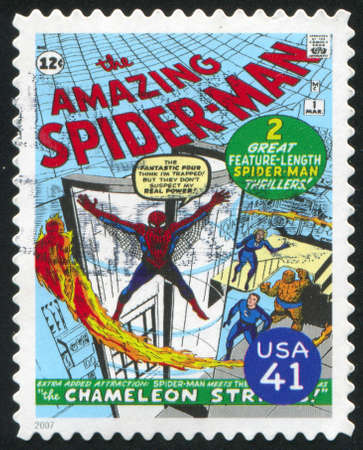 spiderman: UNITED STATES - CIRCA 2007: stamp printed by United states, shows Spider-man, circa 2007 Editorial