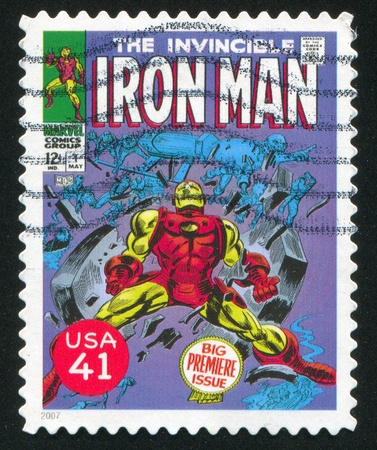 UNITED STATES - CIRCA 2007: stamp printed by United states, shows Iron Man, circa 2007