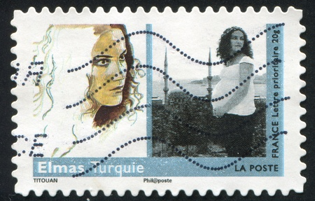 FRANCE - CIRCA 2009: stamp printed by France, shows Art, woman, Elmas, Turquie, circa 2009 Stock Photo - 12571819