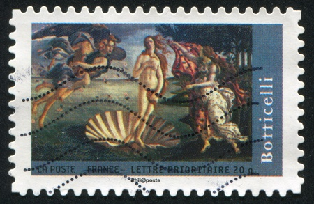 FRANCE - CIRCA 2008: stamp printed by France, shows picture of Sandro Botticelli The birth of Venus, circa 2008 photo