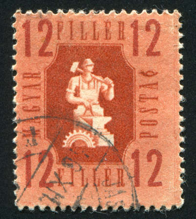 FRANCE - CIRCA 1946: stamp printed by France, shows Industry, circa 1946 photo