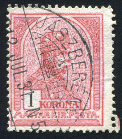 statesman: HUNGARY - CIRCA 1900 stamp printed by Hungary,  shows Franz Josef  I wearing Hungarian crown,  circa 1900 Stock Photo
