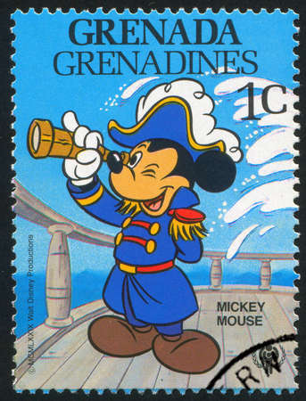 GRENADA - CIRCA 1979: stamp printed by Grenada, shows Walt Disney characters, Mickey mouse, circa 1979