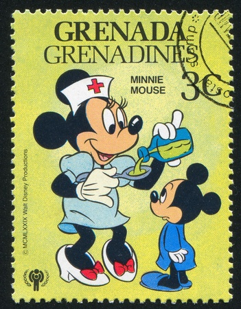 minnie mouse: GRENADA - CIRCA 1979: stamp printed by Grenada, shows Disney Characters, circa 1979