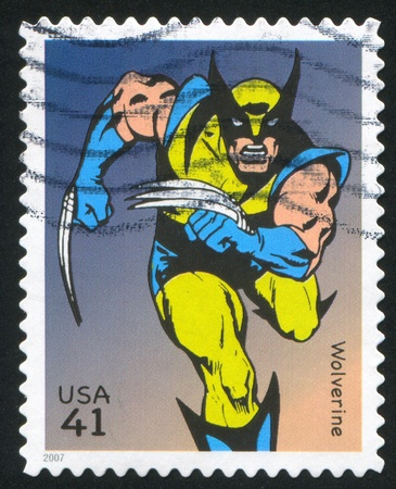 UNITED STATES - CIRCA 2007: stamp printed by United states, shows Wolverine, circa 2007