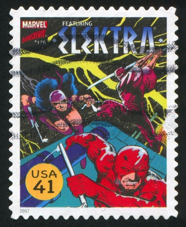 UNITED STATES - CIRCA 2007: stamp printed by United states, shows Elektra, circa 2007