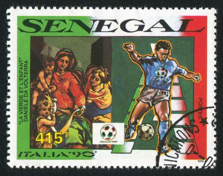 daniele: SENEGAL - CIRCA 1990: stamp printed by Senegal, shows The Virgin and Child, by Daniele da Volterra, circa 1990