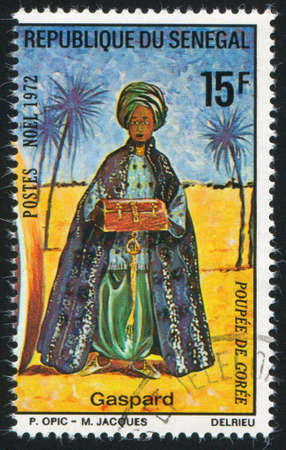 caspar: SENEGAL - CIRCA 1972: stamp printed by Senegal, shows Caspar, circa 1972 Stock Photo