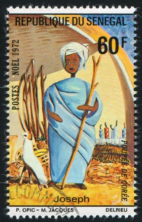 SENEGAL - CIRCA 1972: stamp printed by Senegal, shows Joseph, circa 1972 photo