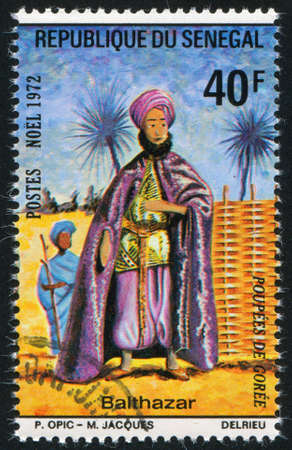 balthasar: SENEGAL - CIRCA 1972: stamp printed by Senegal, shows Balthasar, circa 1972