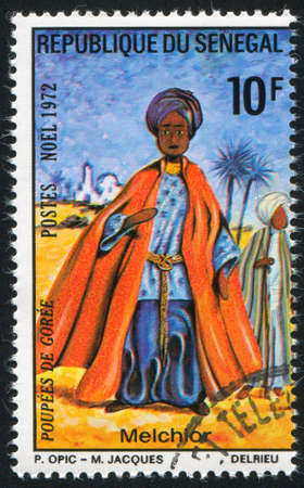 melchior: SENEGAL - CIRCA 1972: stamp printed by Senegal, shows Melchior, circa 1972