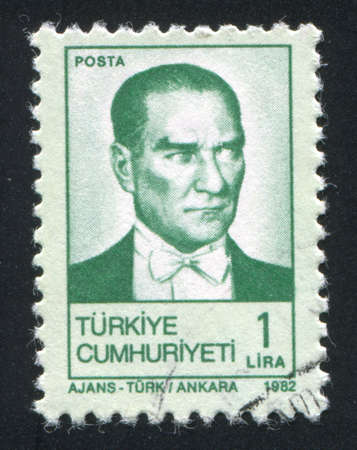 TURKEY - CIRCA 1982: stamp printed by Turkey, shows president Kemal Ataturk, circa 1982.