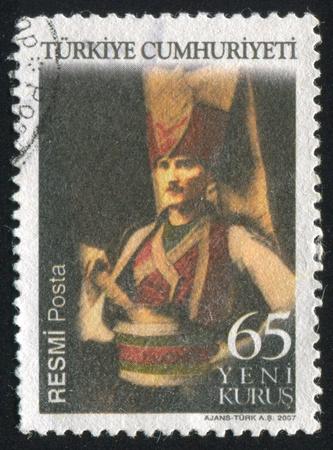 ataturk: TURKEY - CIRCA 2007: stamp printed by Turkey, shows president Kemal Ataturk, circa 2007.