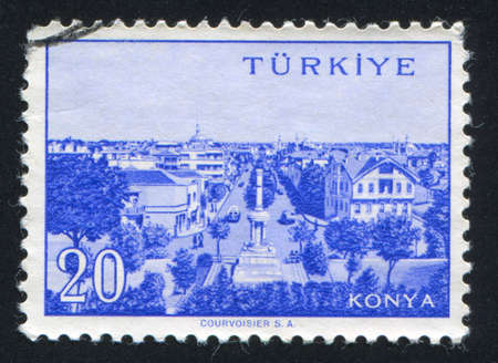 TURKEY - CIRCA 1959: stamp printed by Turkey, shows Turkish city, Konya, circa 1959. Stock Photo - 12594171