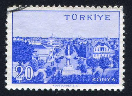 TURKEY - CIRCA 1959: stamp printed by Turkey, shows Turkish city, Konya, circa 1959. Stock Photo - 12594171
