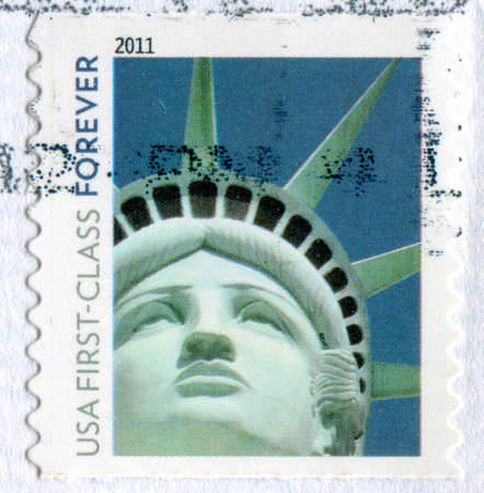 UNITED STATES - CIRCA 2011: stamp printed by United States, shows Statue of Liberty, circa 2011 photo