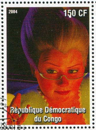 CONGO - CIRCA 2004: stamp printed by Congo, shows cartoon character Shrek, circa 2004 Stock Photo - 12592145