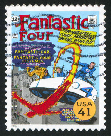 UNITED STATES - CIRCA 2007: stamp printed by United states, shows Fantastic Four, circa 2007