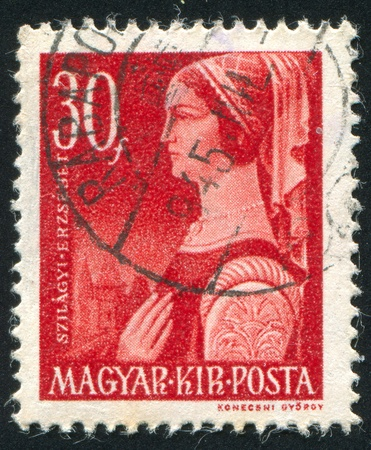 HUNGARY- CIRCA 1944: stamp printed by Hungary, shows Erzsebet Szilagyi, circa 1944