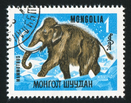 MONGOLIA - CIRCA 1967: stamp printed by Mongolia, shows mammoth, circa 1967 Stock Photo - 12743233