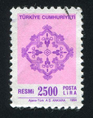 TURKEY - CIRCA 1994: stamp printed by Turkey, shows turkish pattern, circa 1994. Stock Photo - 12742321