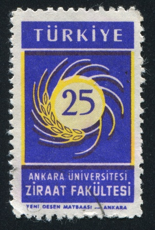 TURKEY- CIRCA 1959: stamp printed by Turkey, shows Ankara university, circa 1959 Stock Photo - 12743238