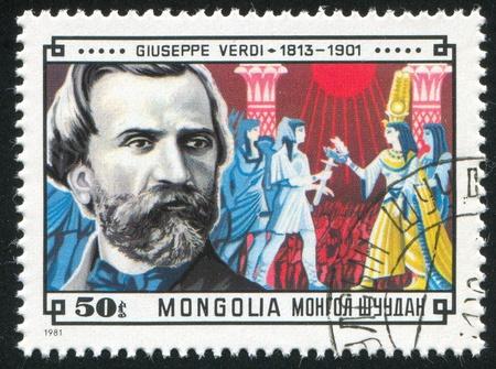 verdi: MONGOLIA - CIRCA 1981: stamp printed by Mongolia, shows Giuseppe Verdi, circa 1981