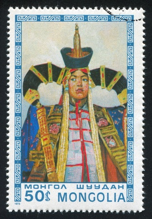 fock: MONGOLIA - CIRCA 1975: stamp printed by Mongolia, shows Princess, circa 1975