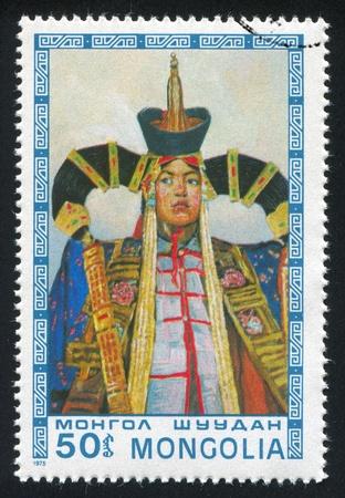 MONGOLIA - CIRCA 1975: stamp printed by Mongolia, shows Princess, circa 1975