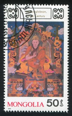 cassock: MONGOLIA - CIRCA 1990: stamp printed by Mongolia, shows Agwanglobsan, circa 1990