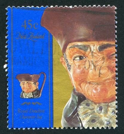 NEW ZEALAND - CIRCA 1993: stamp printed by New Zealand, shows Character jug,