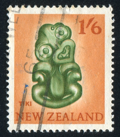 NEW ZEALAND - CIRCA 1967: stamp printed by New Zealand, shows Tiki, circa 1967 photo