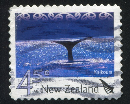 kaikoura: NEW ZEALAND - CIRCA 2004: stamp printed by New Zealand, shows Tourist Attractions - Kaikoura, circa 2004