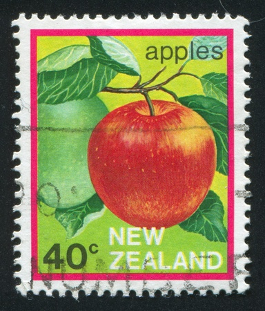 NEW ZEALAND — CIRCA 1982: stamp printed by New Zealand, shows  apple, circa 1982 Stock Photo - 12787336