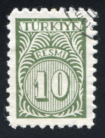 TURKEY - CIRCA 1957: stamp printed by Turkey, shows turkish pattern, circa 1957. photo