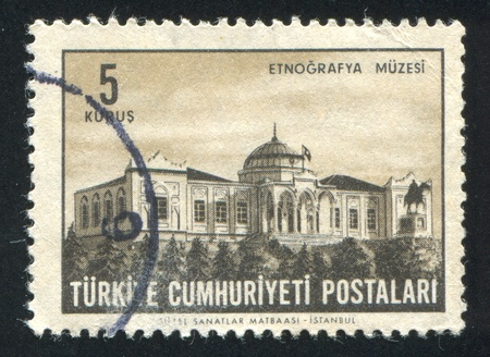 TURKEY - CIRCA 1963: stamp printed by Turkey, shows Ethnographic Museum, circa 1963 photo