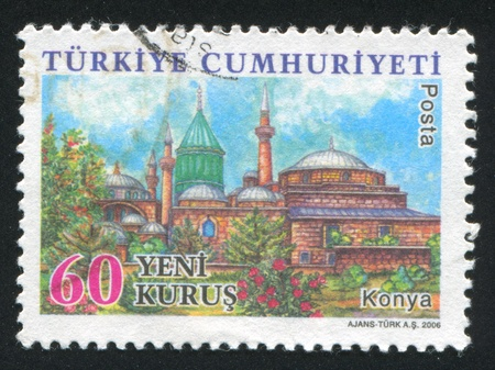 TURKEY - CIRCA 2006: stamp printed by Turkey, shows province Konya, circa 2006 Stock Photo - 12788014