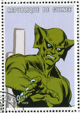 fictional character: GUINEA - CIRCA 1999: stamp printed by Guinea, shows character, circa 1999
