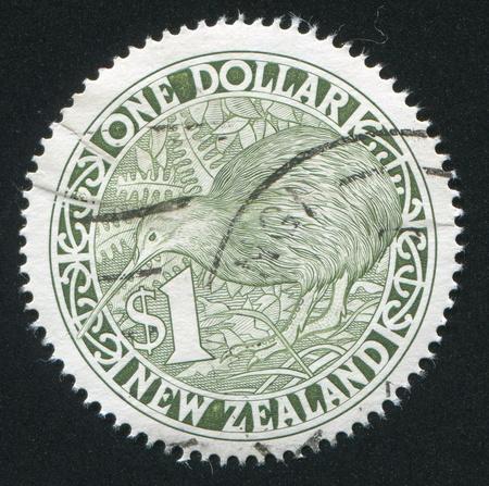 NEW ZEALAND - CIRCA 1991: stamp printed by New Zealand, shows Kiwi, designer Allan Mitchell, circa 1991 photo