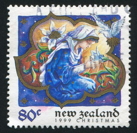 NEW ZEALAND - CIRCA 1999: stamp printed by New Zealand, shows Virgin Mary, circa 1999 Stock Photo - 12999375