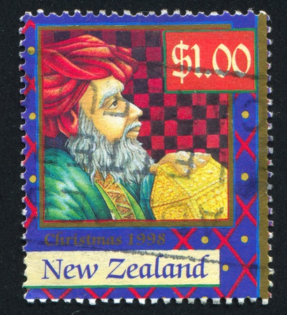 NEW ZEALAND - CIRCA 1998: stamp printed by New Zealand, shows Magi with Gifts, circa 1998 photo