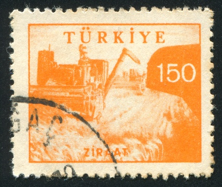 TURKEY - CIRCA 1959: stamp printed by Turkey, shows  Harveste, circa 1959 photo