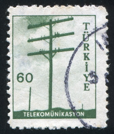 TURKEY- CIRCA 1959: stamp printed by Turkey, shows telecommunications, circa 1959 photo